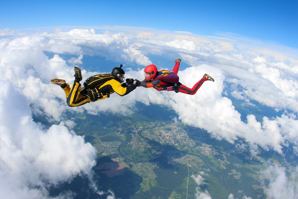 Extreme Sports Experience: Airbaloon, Tandem Paragliding, And Skydiving