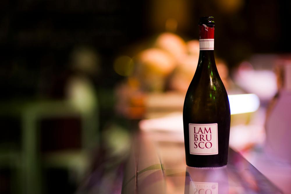 Lambrusco Wine tasting
