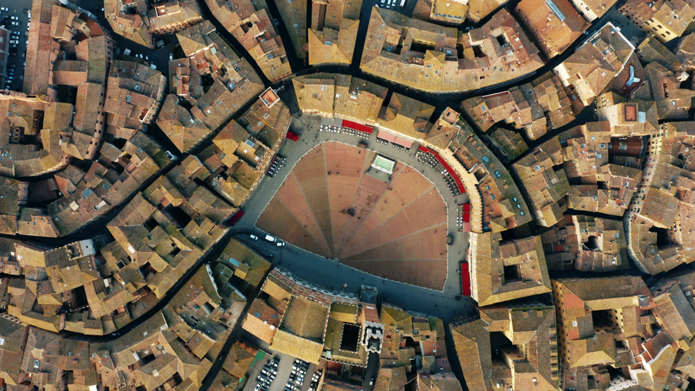 Siena city center